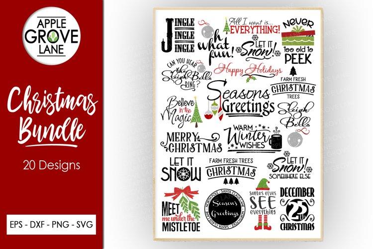 Christmas Svg Bundle - 20 designs - Dxf Png Eps Svg Cut File example image 1
