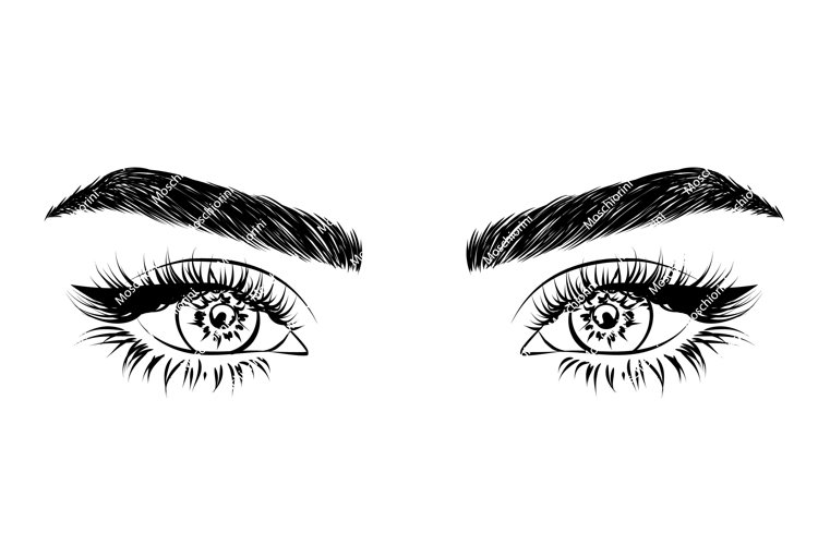 SVG eye illustration for decall stores logo
