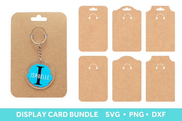 Keychain Display Card SVG, Keyring Card Template SVG example image 1