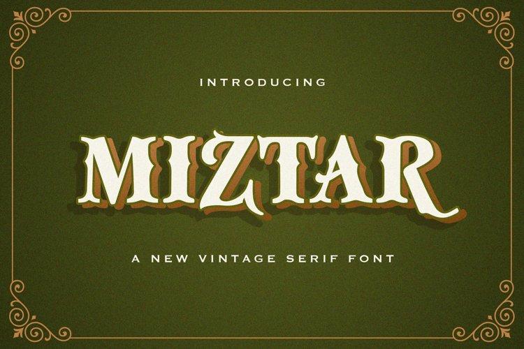 Miztar - Victorian Style Font example image 1