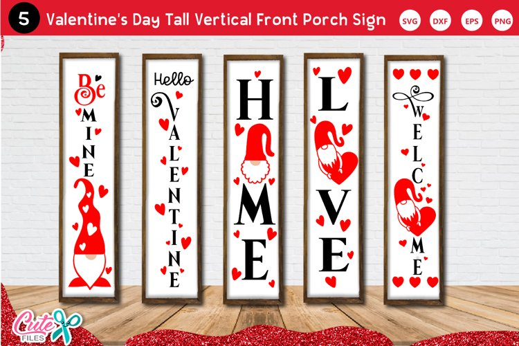 Valentines Day Tall Vertical Front Porch Sign SVG