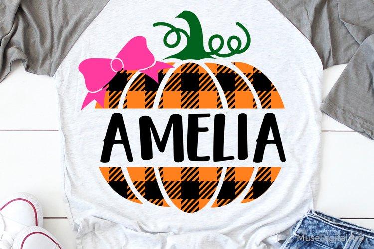 Girl Pumpkin Split Monogram Svg, Baby Girl Pumpkin Bow Svg