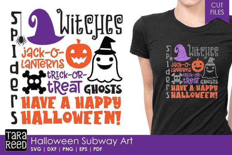 Halloween Subway Art - Halloween SVG and Cut Files