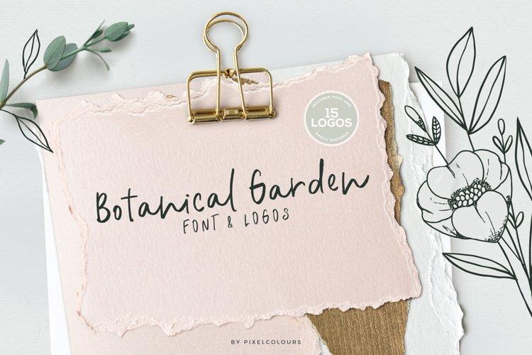 Botanical Garden Font & Logos