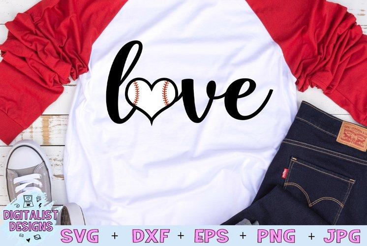 Love Baseball SVG | Baseball SVG | Heart SVG