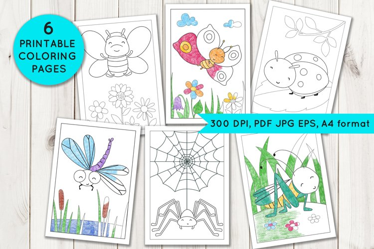 Coloring Pages with insects example image 1