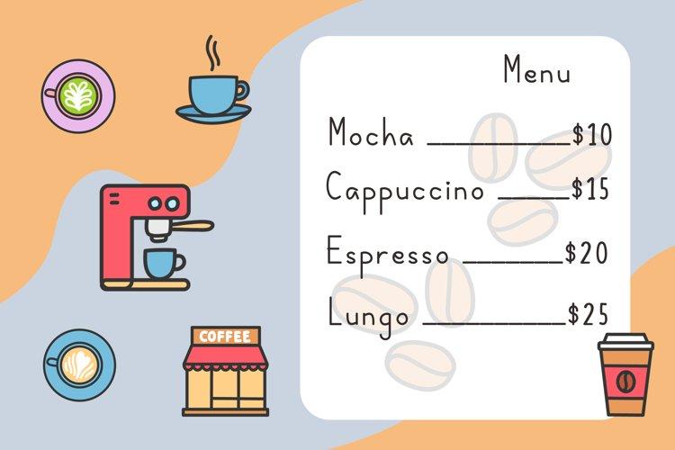 Coffee latte example 1
