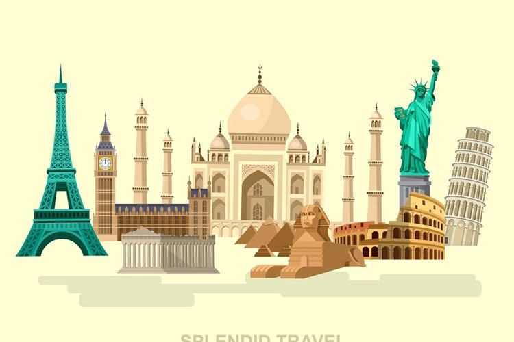 Famous World landmarks example image 1