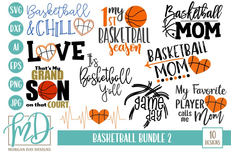 Basketball Bundle 2 SVG, DXF, AI, EPS, PNG, JPEG example image 1