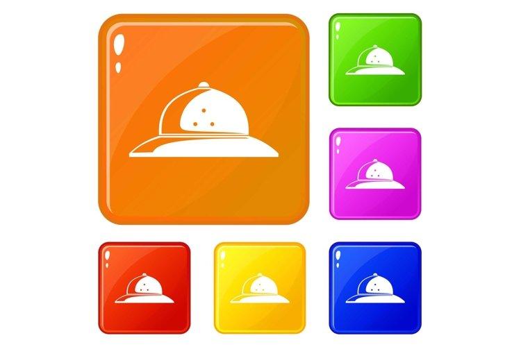 Cork helmet icons set vector color example image 1