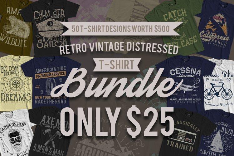 50 Retro Vintage T-Shirt Designs example image 1