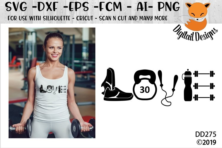 Love Fitness Exercise SVG example image 1