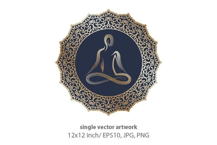Mandala Meditation- vector example image 1