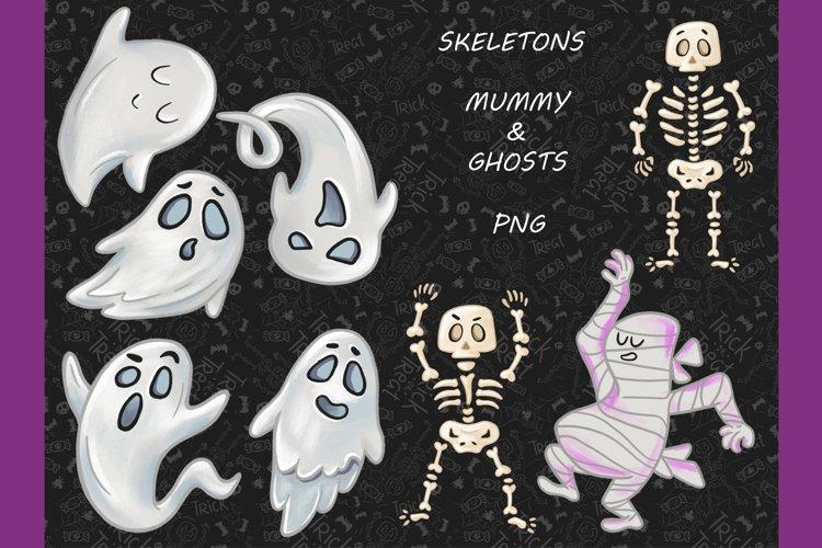 Halloween CLIPART, Fall clipart, Pumpkin clipart, PNG files example 2