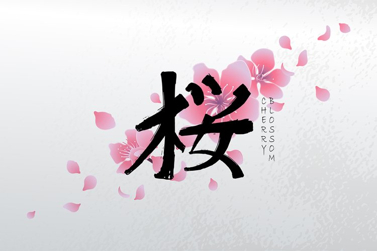 Vector cherry blossom collection example image 1
