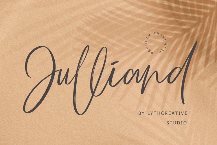 Julliand Handwritten Font example image 1