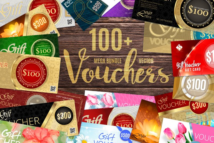 Vector Vouchers Bundle example image 1
