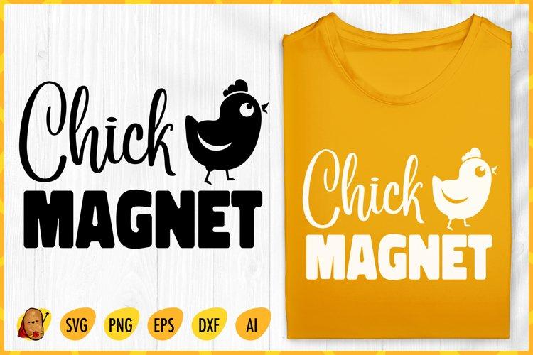 Chick Magnet SVG - Easter SVG - Easter Chick SVG - Chick SVG example image 1