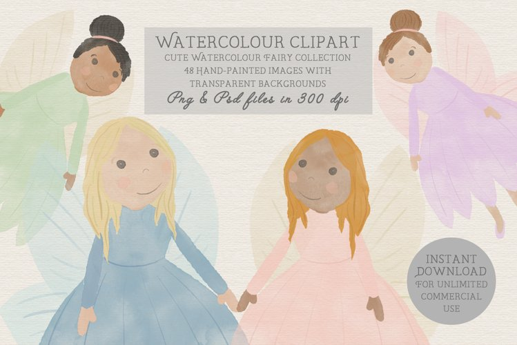 Woodland Fairy Clipart, fairy stickers, pixie, illustration