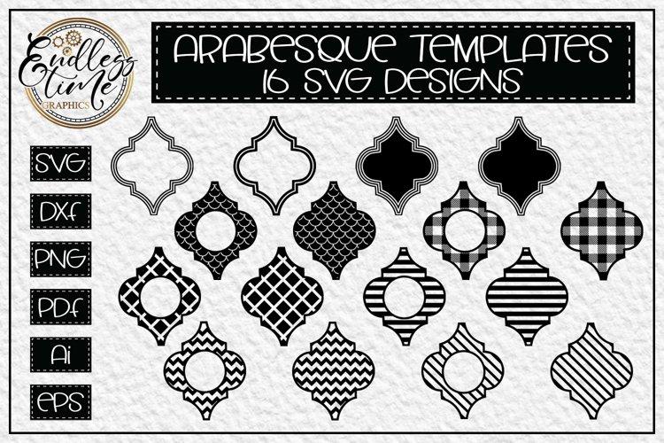 Arabesque Tile SVG Bundle - 16 Blank Arabesque Templates