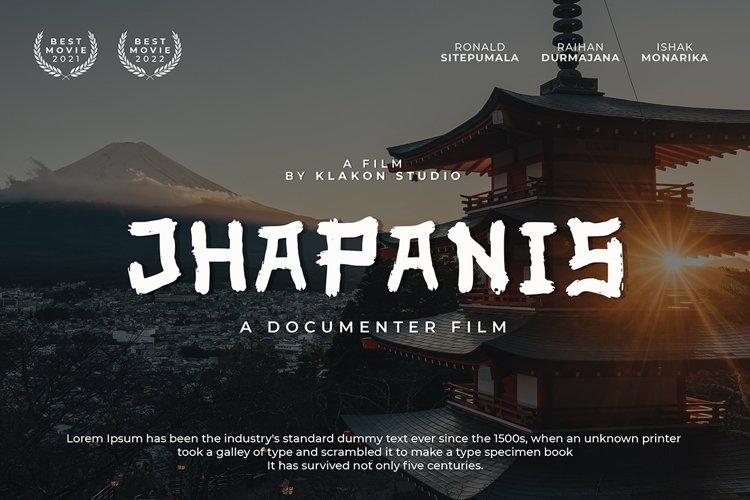 Jhapanis Font example image 1