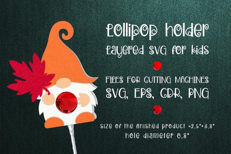 Autumn Gnome Lollipop Holder SVG