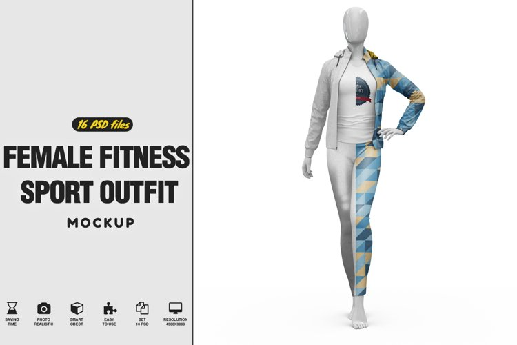 Female Sport Outfit Vol.2 Mockup example image 1