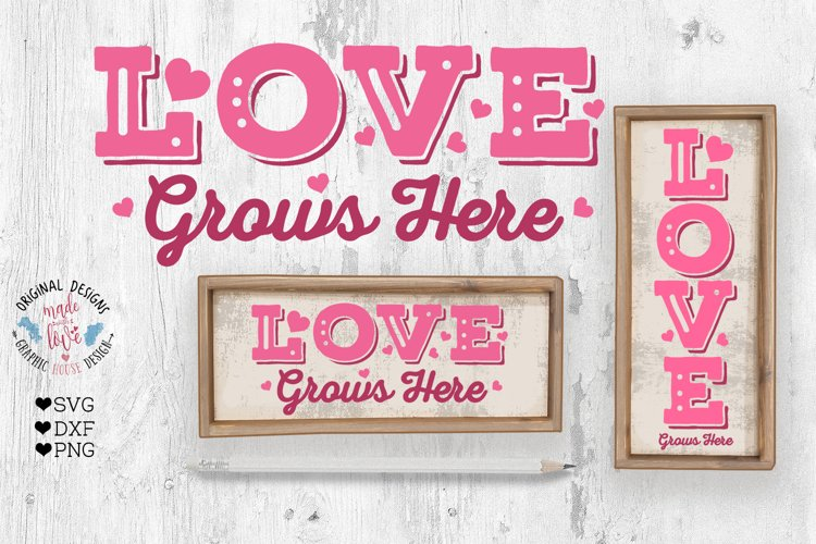 Love Valentines Porch Sign Cut File - Sublimation File example image 1
