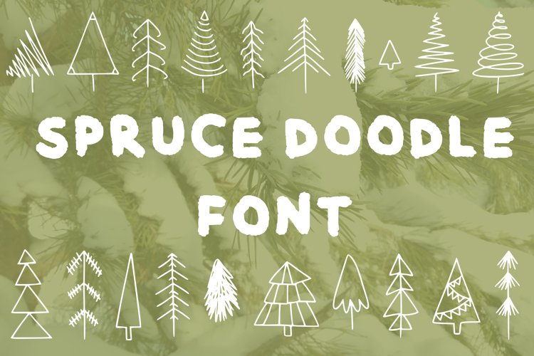 Spruce doodle font in ttf, otf example image 1