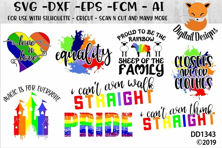 Pride LGBTQ SVG Bundle example image 1