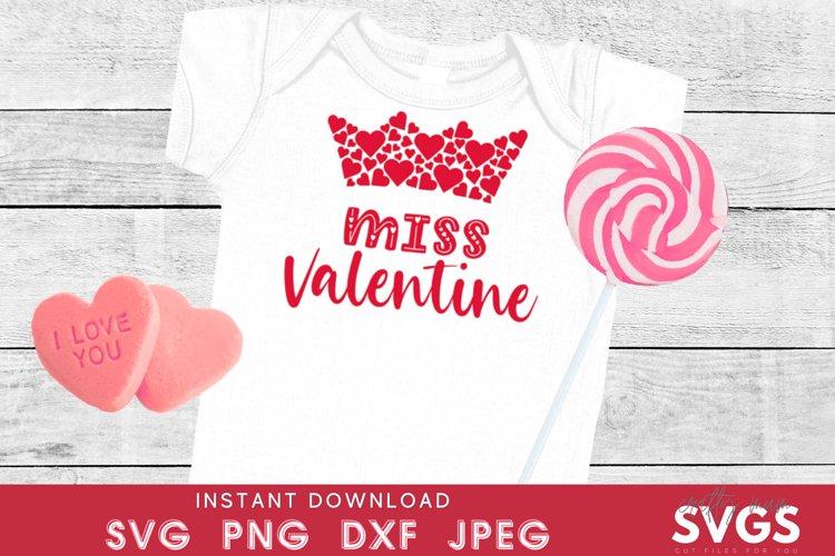 Kids valentines svg | miss valentine svg | girls T-shirt svg
