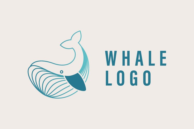 Unique whale logo vector template - Eps 10 example image 1
