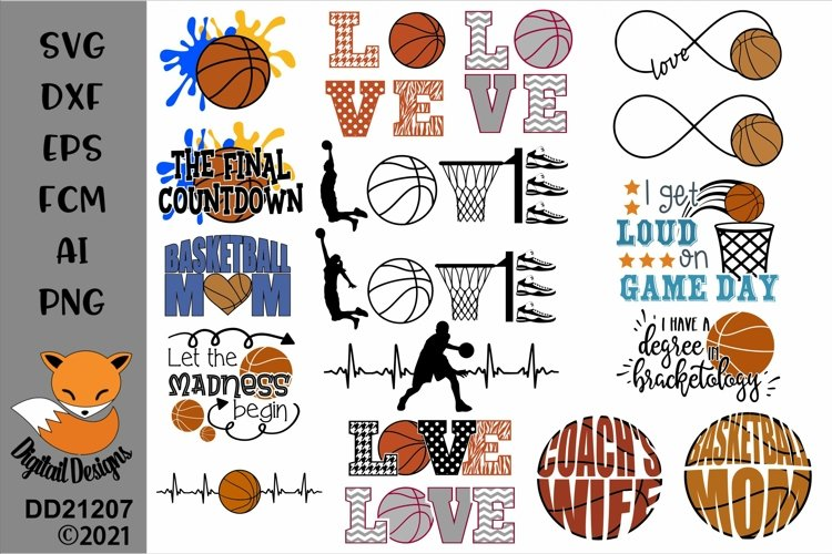 Basketball Bundle 16 SVG for Silhouette, Cricut, Scan N Cut example image 1