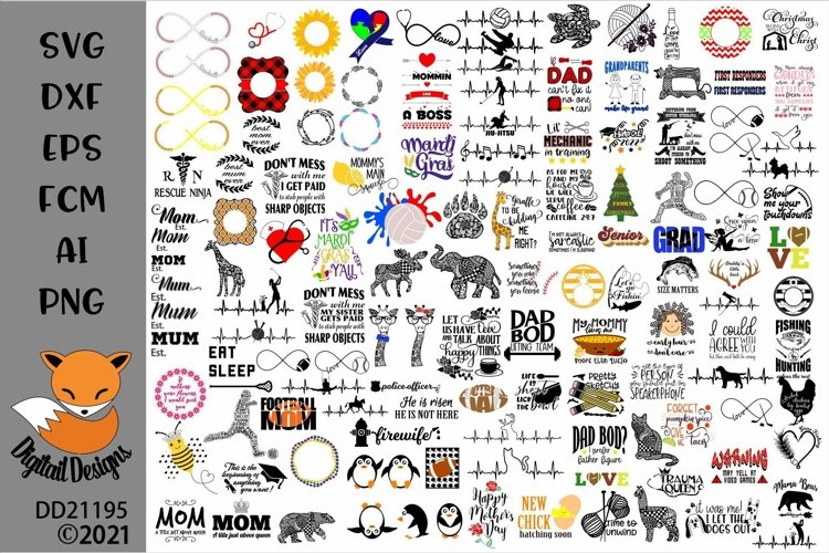 Huge 400 SVG Design Bundle