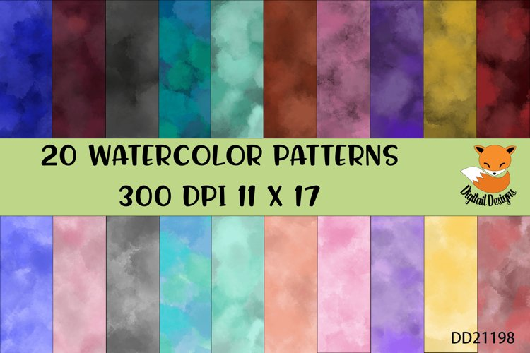 Watercolor Background Bundle for Tie Dye Sublimation