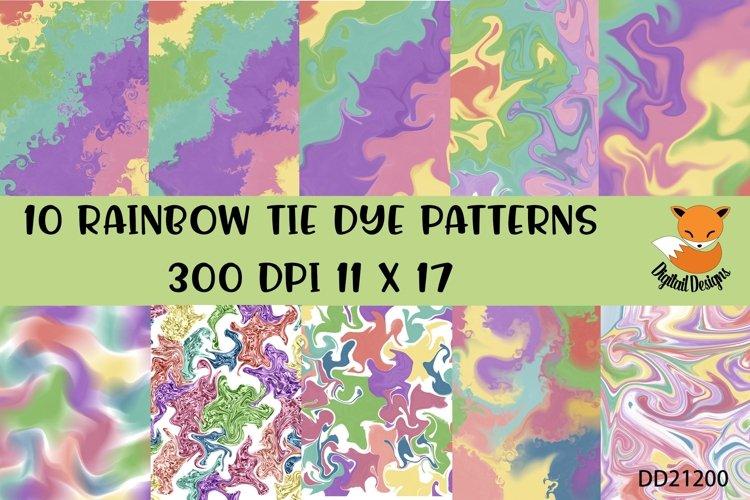 Rainbow Background Bundle for Tie Dye Sublimation example image 1