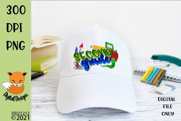 Back to School Second Grade Sublimation Design example image 1