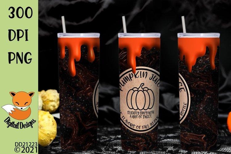 Pumpkin Juice Skinny Tumbler Wrap Sublimation example image 1
