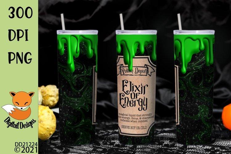 Elixir of Energy Skinny Tumbler Wrap Sublimation example image 1