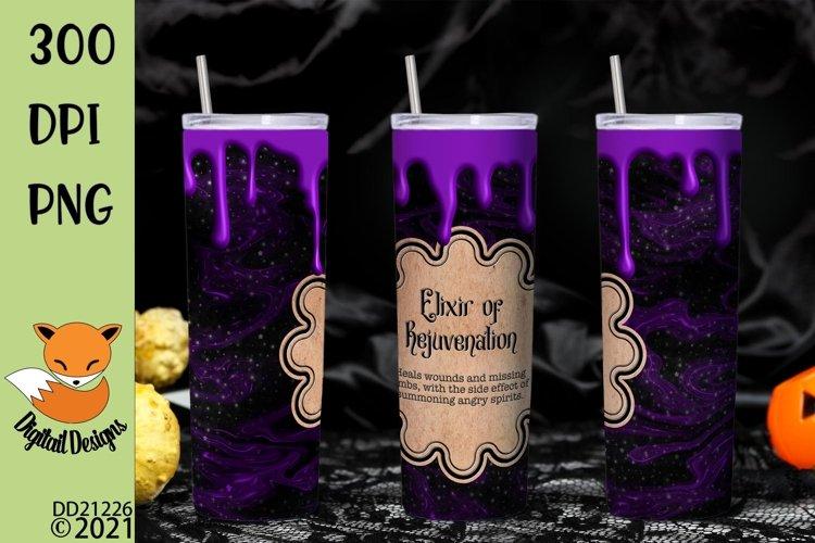 Magic Potion Skinny Tumbler Wrap Sublimation