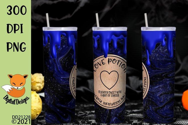 Magic Love Potion Skinny Tumbler Wrap Sublimation