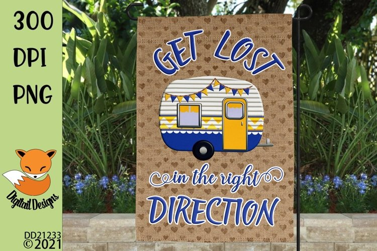 Get Lost In The Right Direction Camping Flag Sublimation example image 1