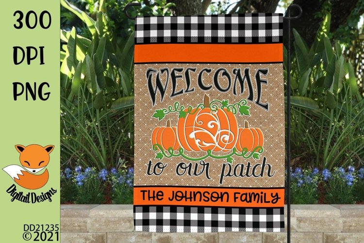 Halloween Welcome Sublimation Design for Flag & Round Signs example image 1