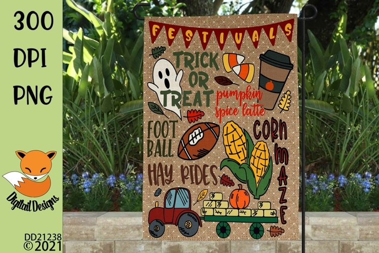 Fall Favorites Sublimation Design for Flag example image 1