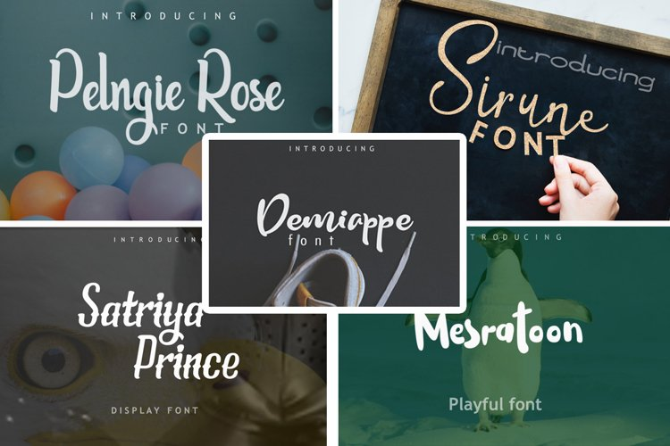 5in1 Font Bundle vol 01 example image 1
