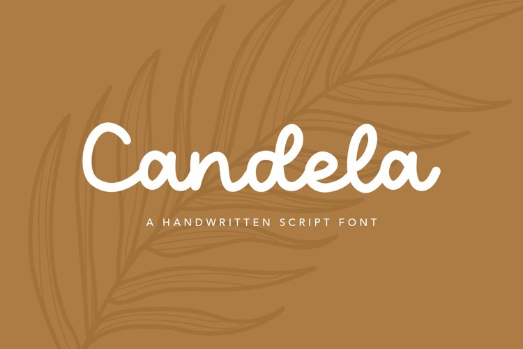 Candela Handwritten Script Font example image 1