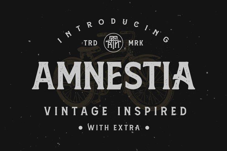 Amnestia Typeface with Extra example image 1