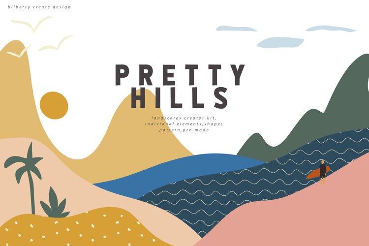 Pretty Hills landscape kit example image 1