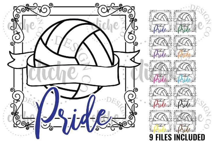 Preppy Volleyball Sublimation Design Bundle