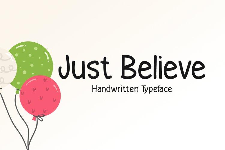 Just Believe example image 1